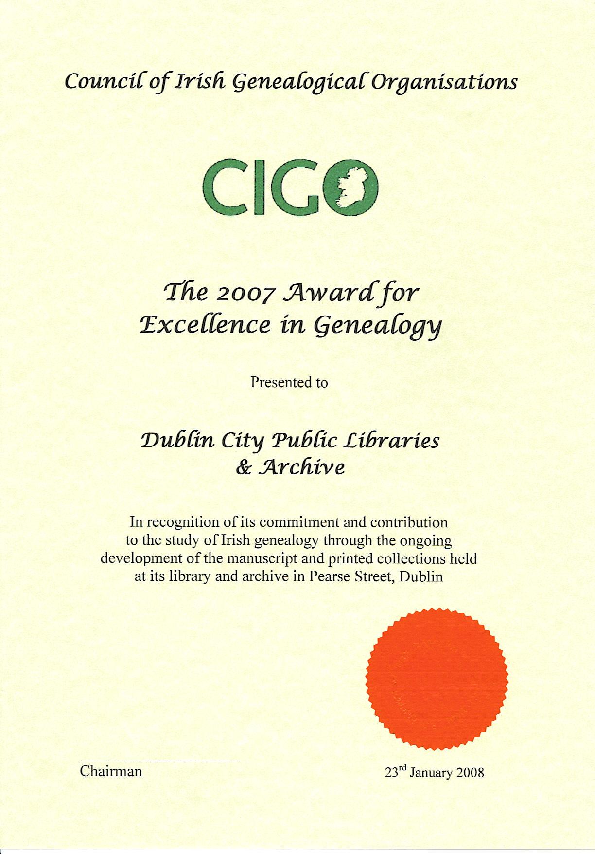 CIGO2007Award